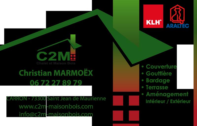 C2m construction de chalet et maison en bois for Carte visite construction